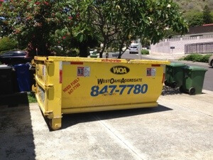 ダンプスタをレンタルして廃材を入れて行きます。業者が10日ほどで回収にきてくれます。580ドルなり