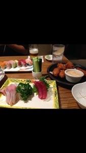 今日はライトに居酒屋スタイル。キッズはkeiki sushiセットでー。