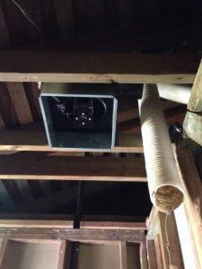 ハワイでリフォーム:二階の換気扇を新規交換。静音、パワーアップです。