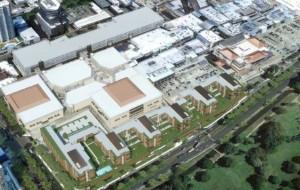 パークレーンアラモアナ上空から見た完成予想図