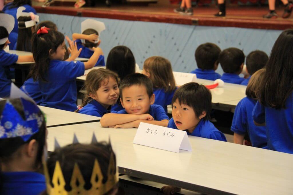 ハワイで大家:長男日本語補習校お遊戯会20143