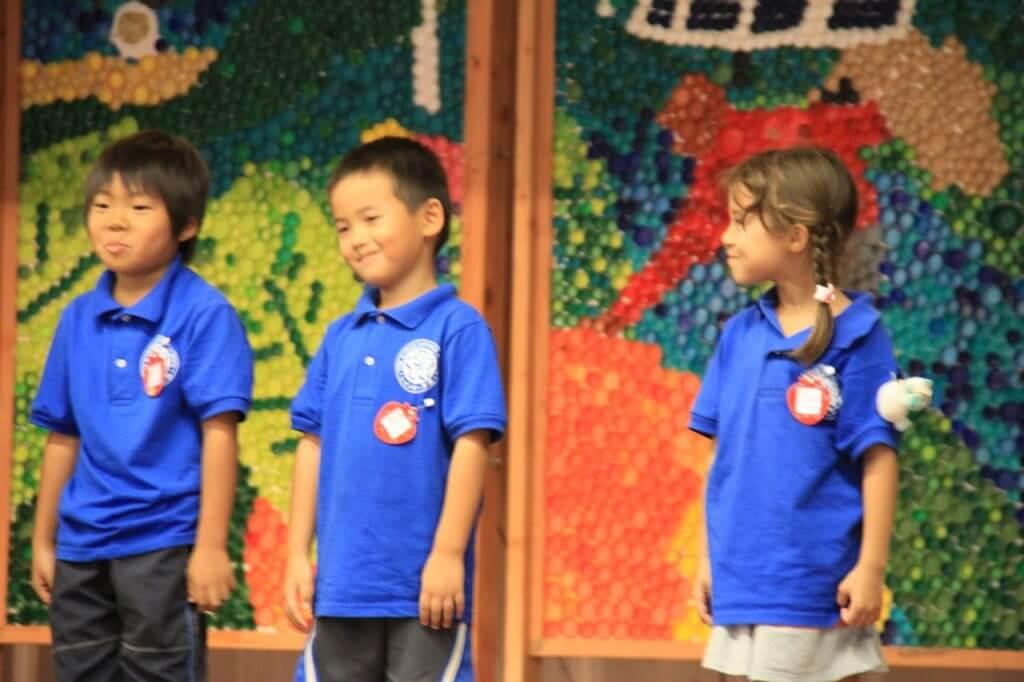 ハワイで大家:長男日本語補習校お遊戯会20145