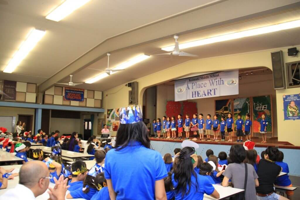 ハワイで大家:長男日本語補習校お遊戯会20144