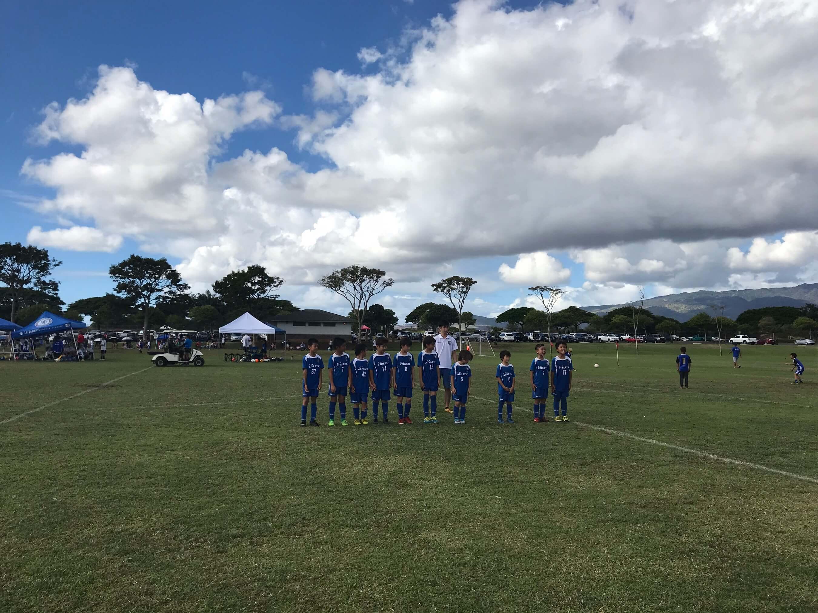 ハワイで大家:ワイピオで長男のサッカーの試合に