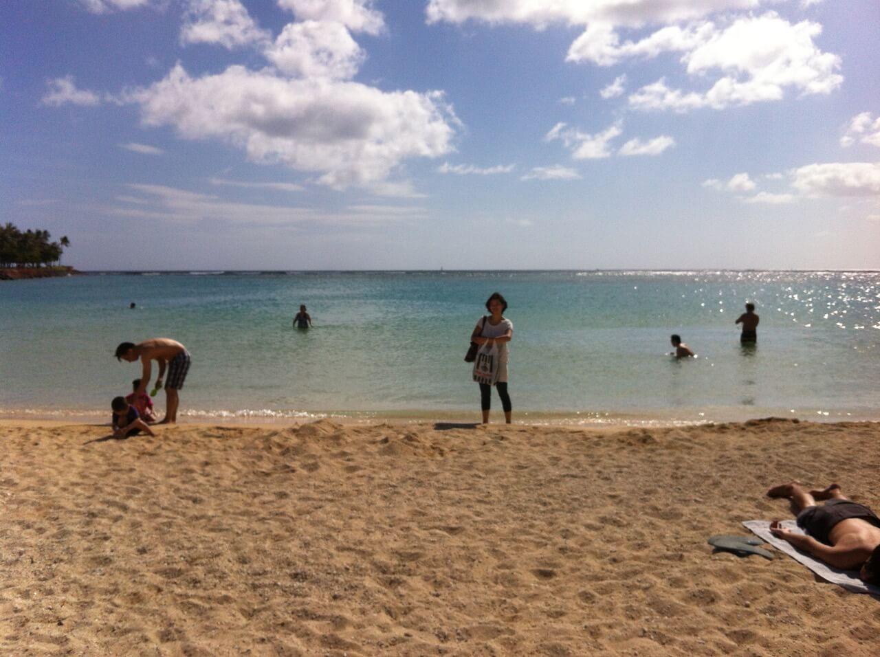 ハワイで大家:2012年移住した当日アラモアナビーチに行ったw
