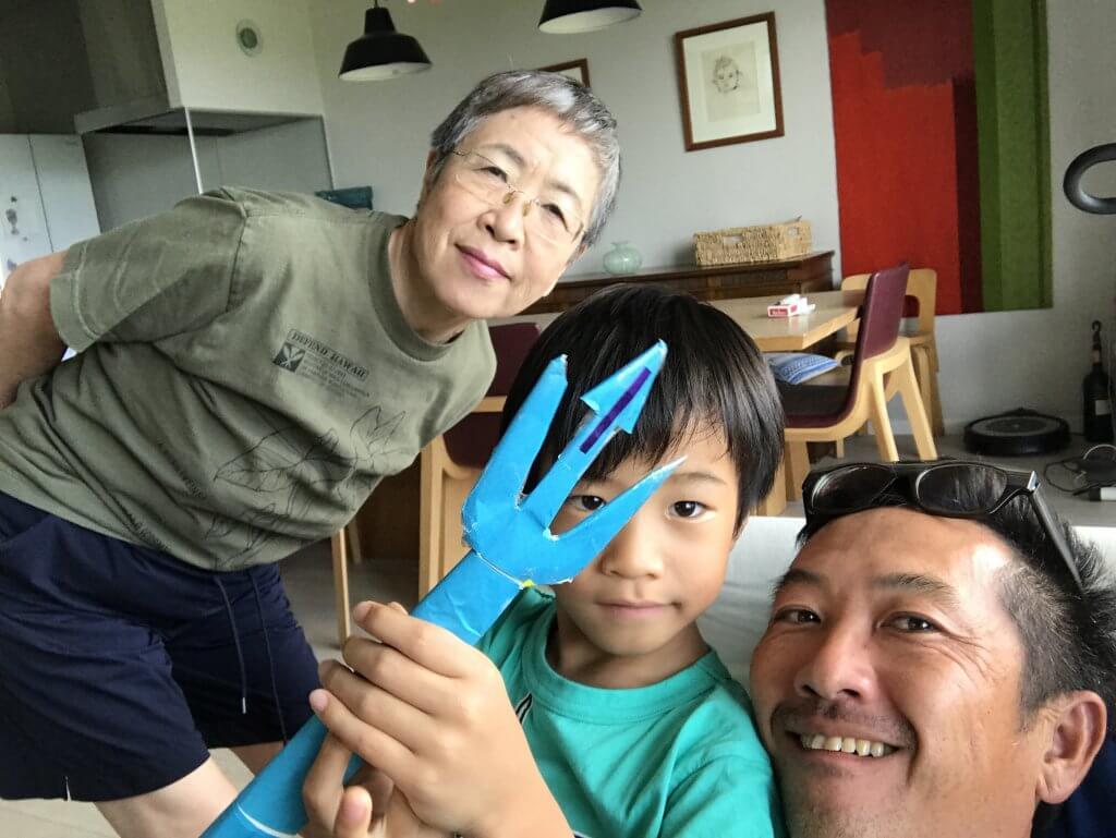 ハワイで大家:沖縄の母と甥っ子