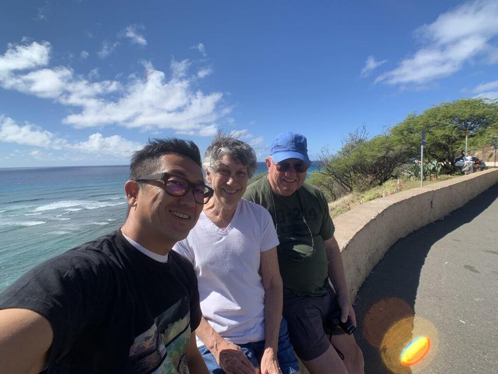 ハワイで大家:ホストファミリー来ハ 2019 DHにて