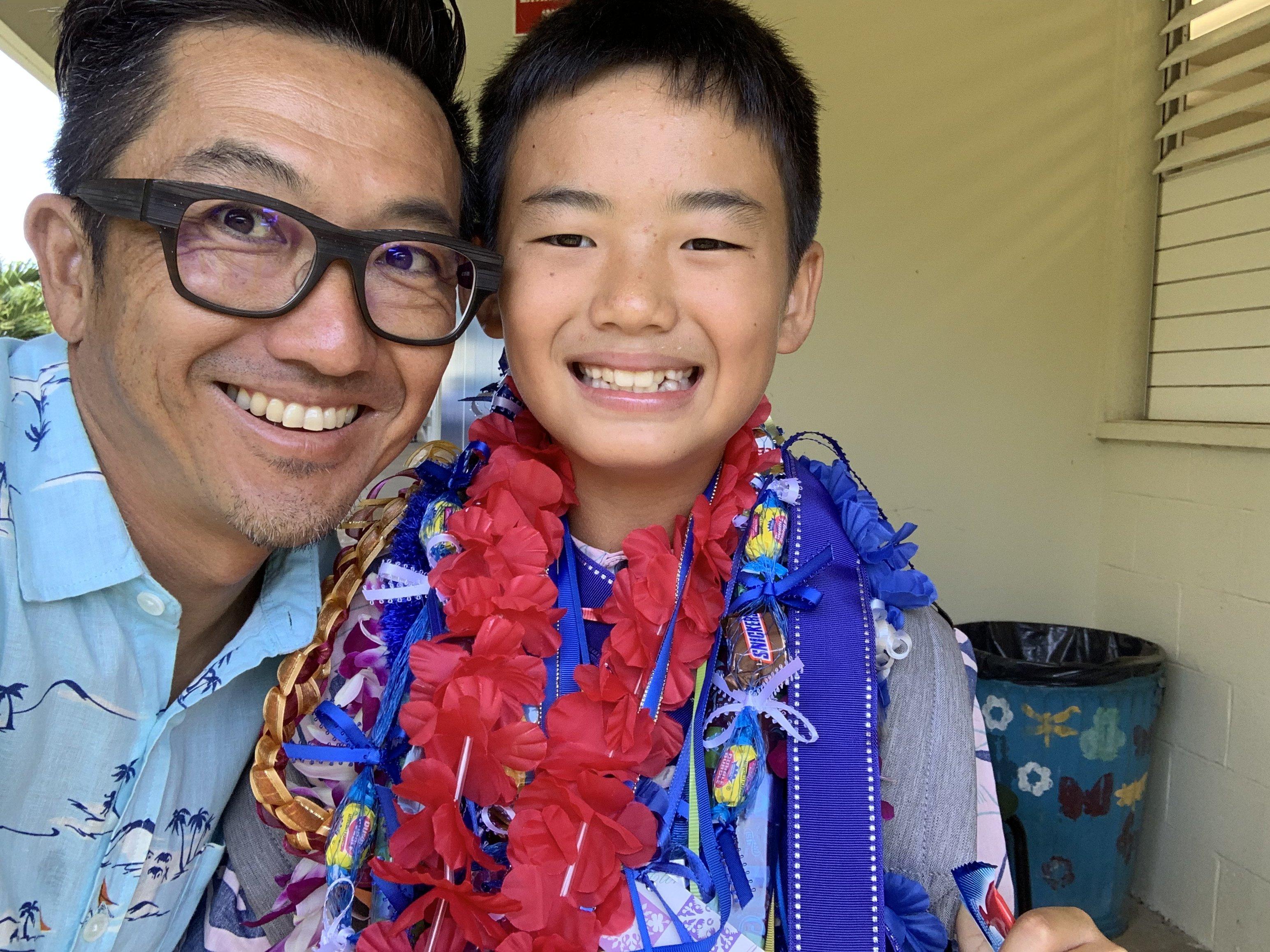 ハワイで大家:長男小学校卒業